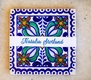 painted tile name plates escort cards spanish mexican wedding floral