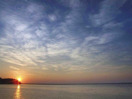 Beautiful ocean sunset at W Retreat & Spa, Vieques Island