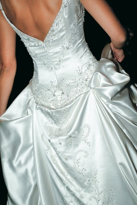 Eve of Milady mid-back bridal gown