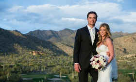 Denver Broncos quarterback Brock Osweiler and bride in Arizona