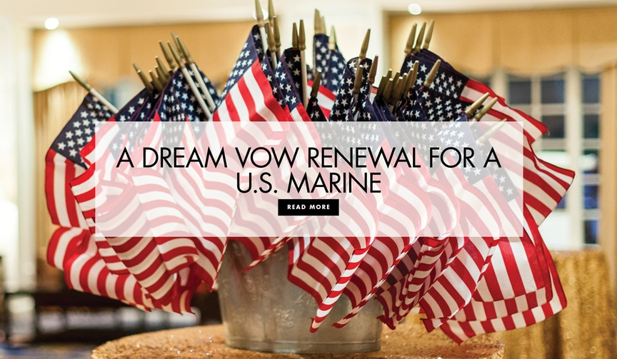 US marine dream wedding vow renewal nonprofit hope for the warriors a warrior's wish wounded dog
