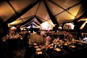 Rich fall wedding decorations for tent wedding