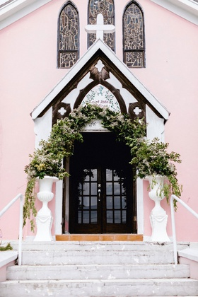 wedding ceremony location destination wedding pink chapel on harbour island in the bahamas anglican