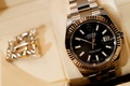 wedding jewelry for men rolex watch gold and black wedding day accessories for grooms