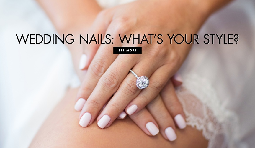 Use your wedding theme to pick your polish.