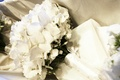 Bridal bouquet with white butterfly-like flowers