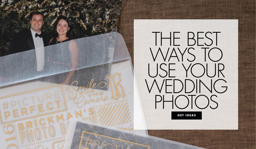 What to do with your wedding photos the best way to use your wedding pictures