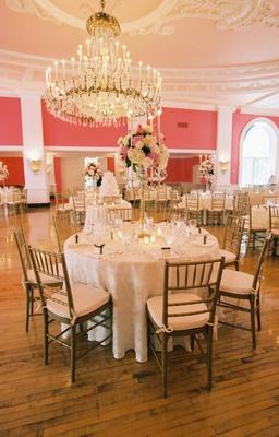 The Greenbrier Cameo ballroom reception space