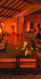 Lounge area at Nick Carter's wedding after-party