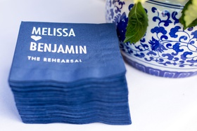 personalized cocktail napkins for rehearsal dinner