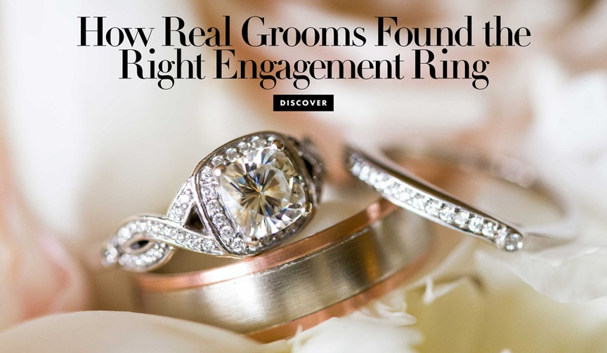 how grooms found the right engagement ring