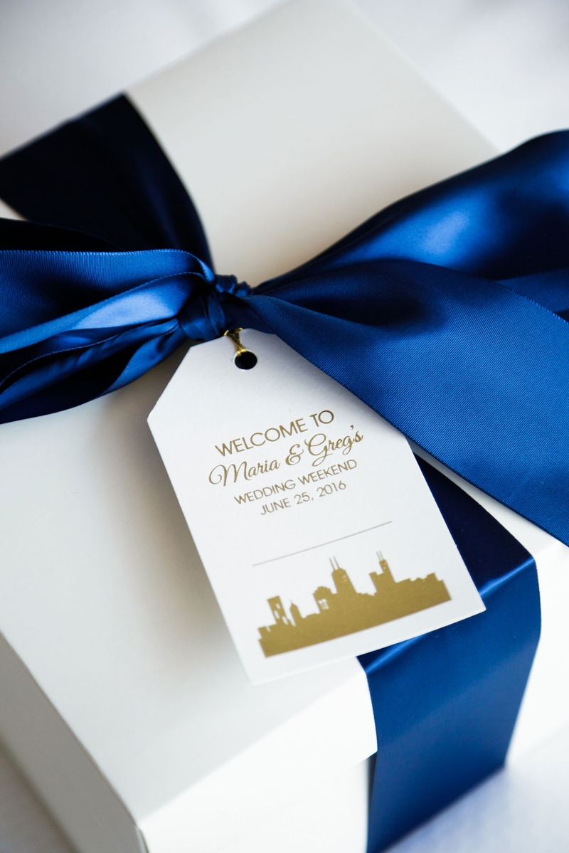 Favors & Gifts Photos - Weekend Welcome Box with Ribbon - Inside ...