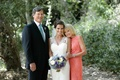 Melissa Claire Egan with father and mother of the bride