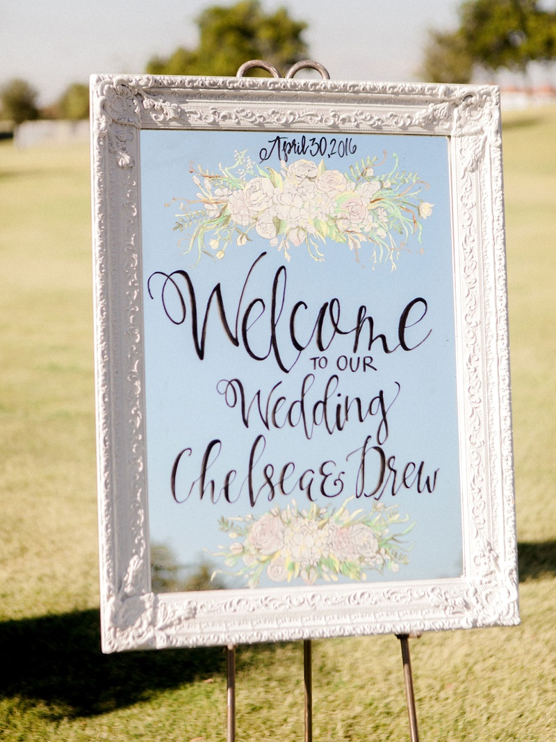 White Antique Frame With Mirror Wele Sign Flower Design And Calligraphy To Our Wedding: Wedding Invitation Antique Mirror At Reisefeber.org