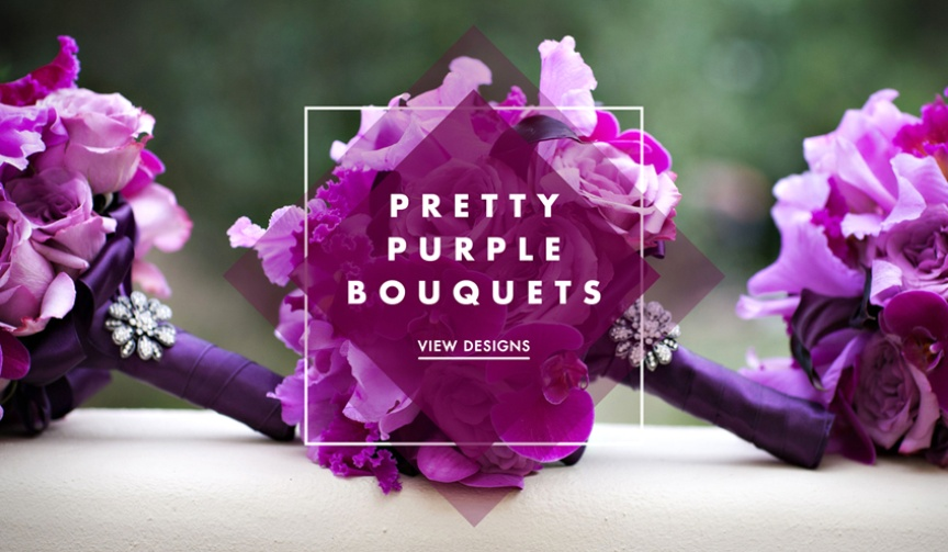 Purple wedding bouquets and lilac bouquet
