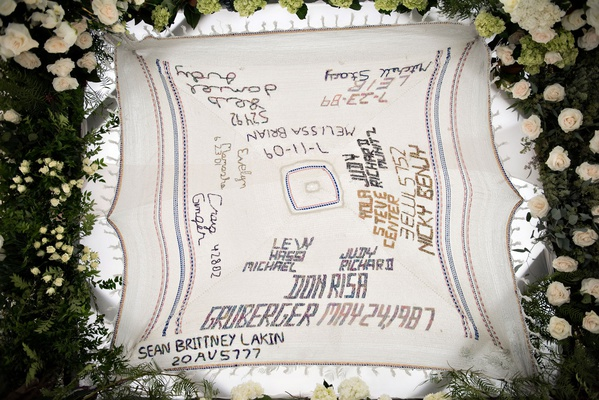 wedding ceremony jewish chuppah canopy tallit crochet names and dates of family member weddings