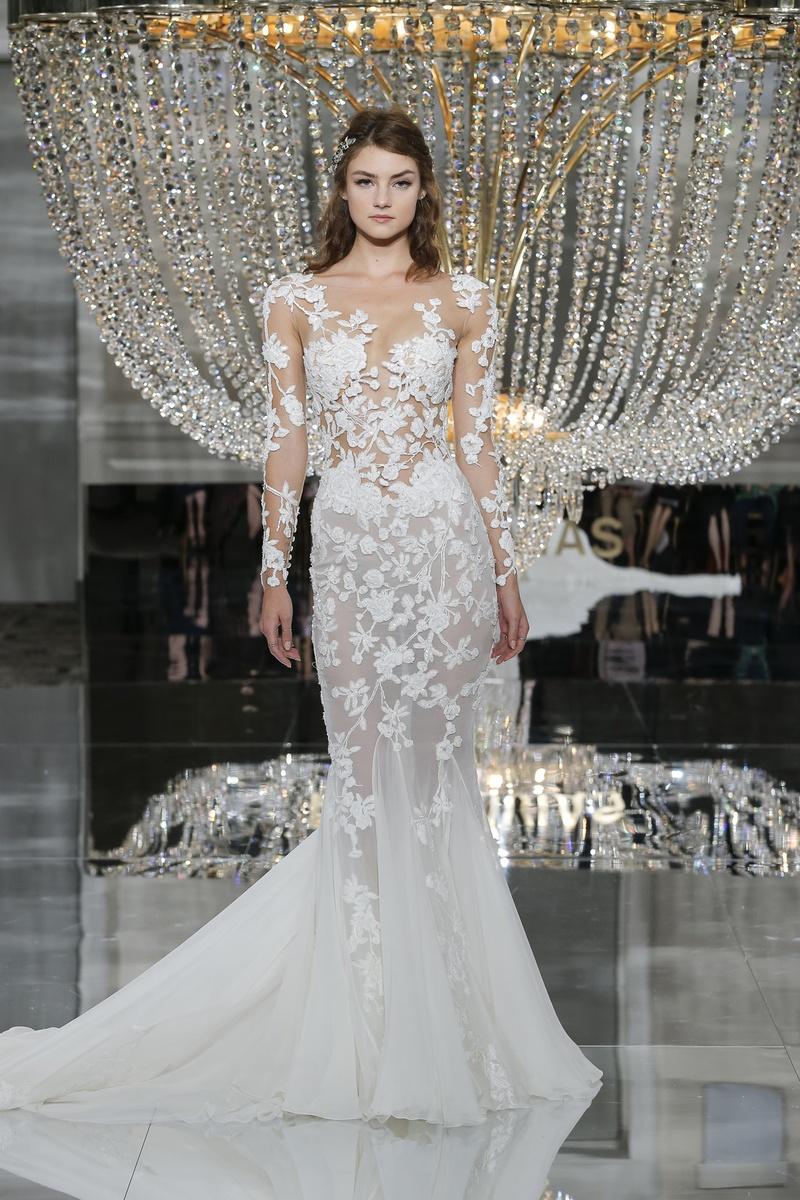 Celebrity brides mermaid dresses