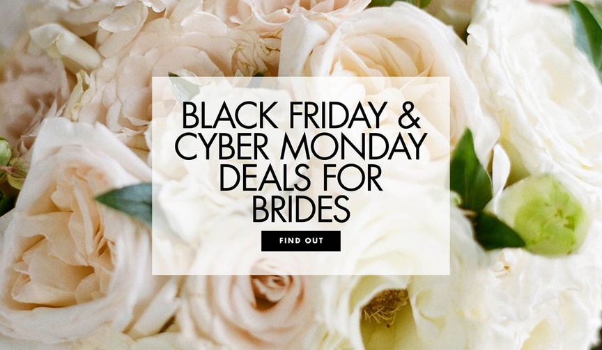 Shop black friday and cyber monday deals for brides and couples