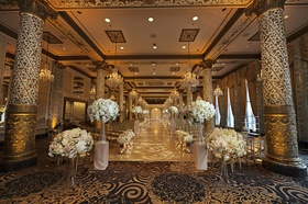 wedding in the gold room at the drake hotel, gold columns