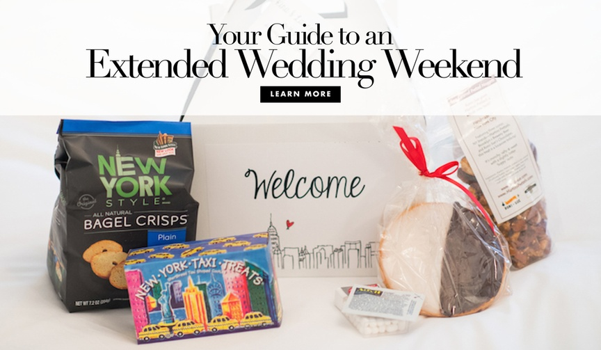 Full weekend wedding activities and favors