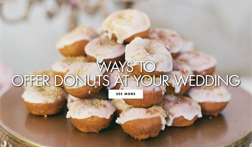 ways to offer donuts at your wedding national donut day doughnut dessert at wedding