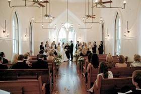 Simple decorations in pretty church wedding