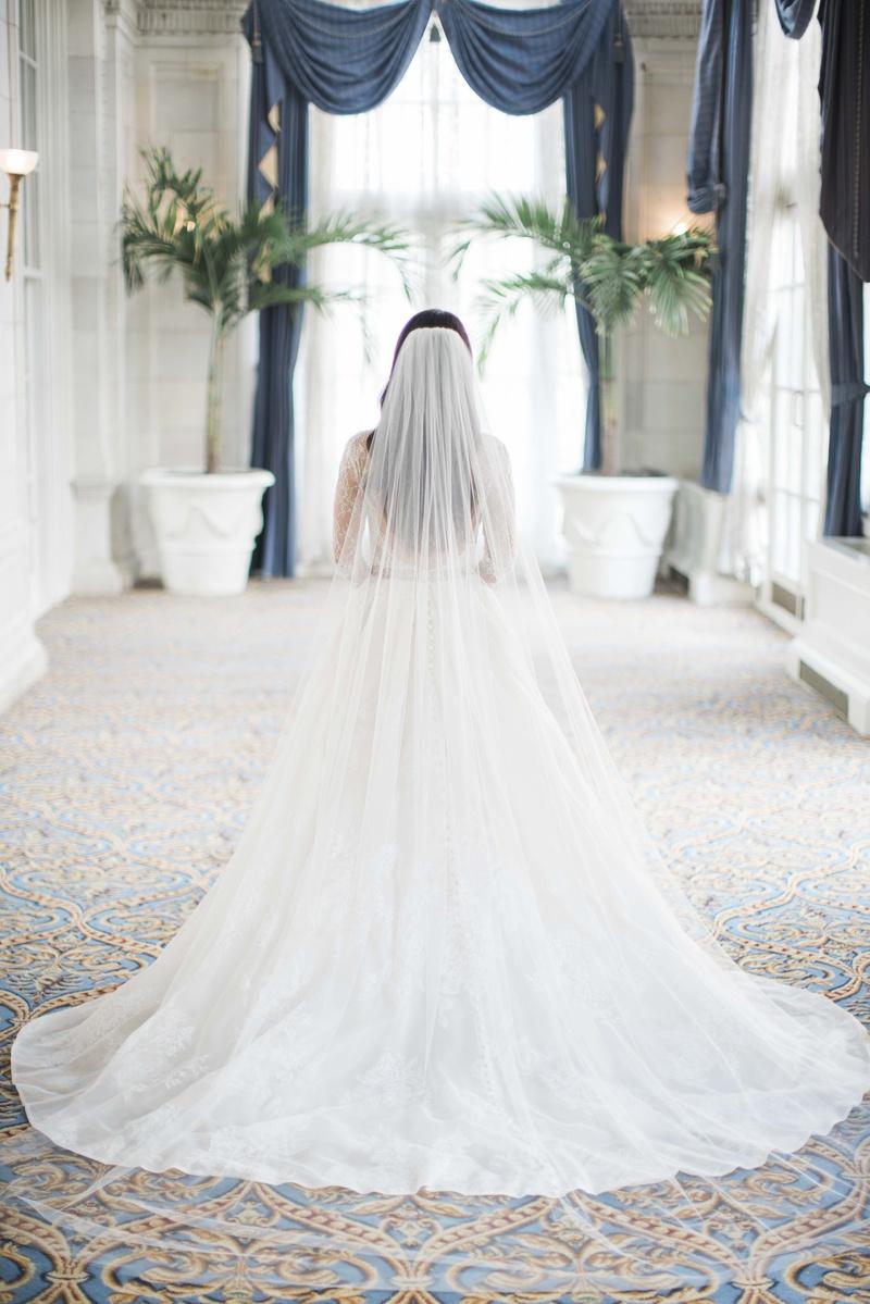 monique lhuillier plain catherdral veil, monique lhuillier lace a-line wedding dress