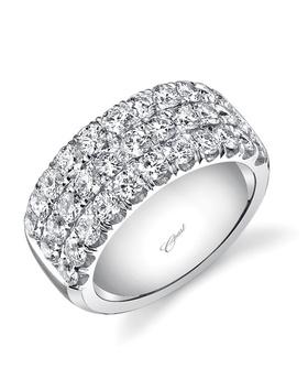 Charisma collection three-row diamond band