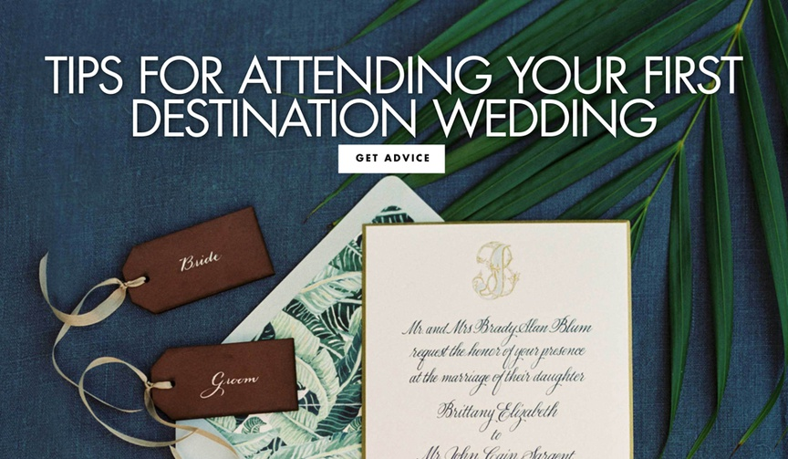 destination wedding invitation, what to know if you're invited to a destination wedding