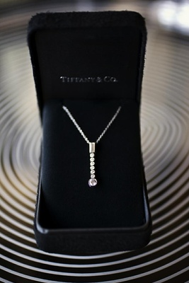 Tiffany & Co. diamond jewelry in black box