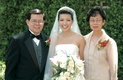 Bride with mother of the bride and father of the bride