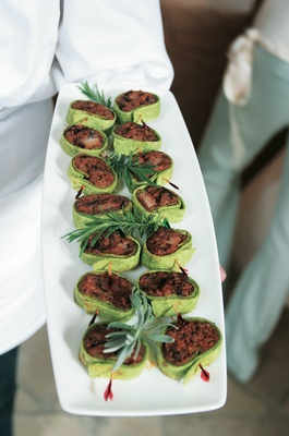 Wrap bites for wedding appetizers