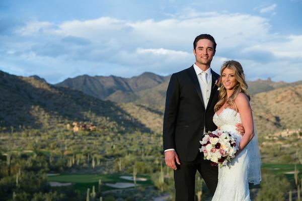 Denver Broncos quarterback Brock Osweiler and bride in Arizona