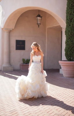 Custom Vera Wang wedding dress with sparkles