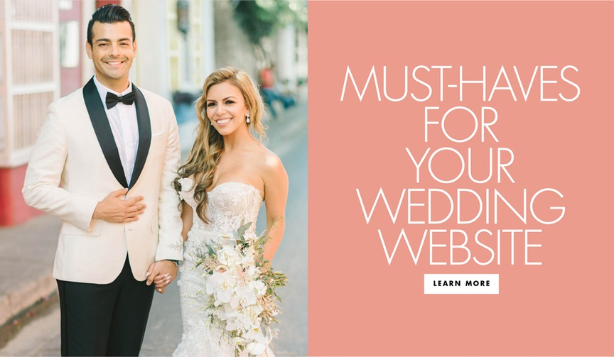 What information to provide for your wedding guests on your wedding website