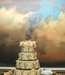 Wedding cake with four layers and floral design