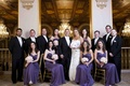 The Plaza wedding with purple bridesmaid dresses