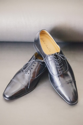 Lace-up men's dress shoes for wedding day