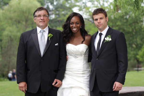 Enuka Okuma and Joe Gasparik with groom's father