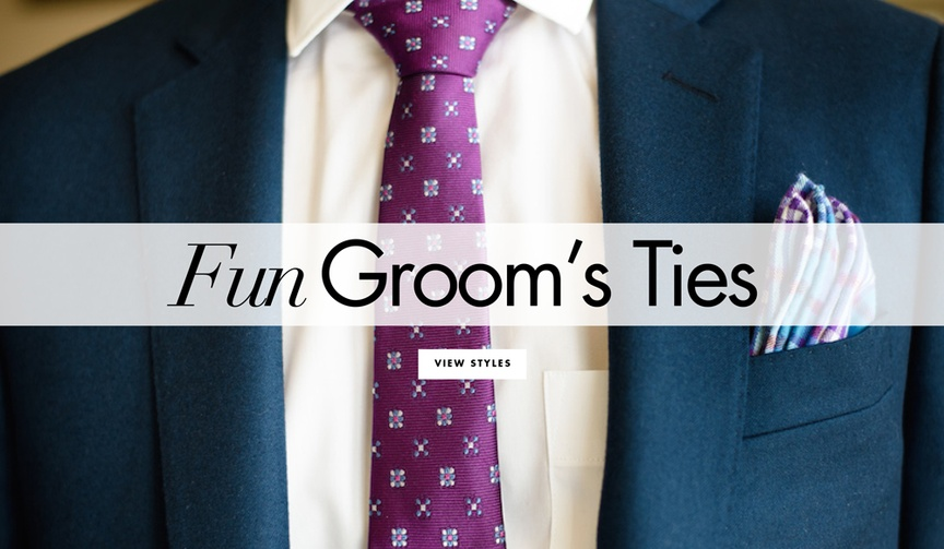 Fun groom's and groomsman's tie and bow tie ideas