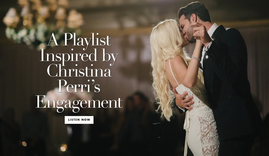 See her unique engagement ring and discover some song options for your wedding.