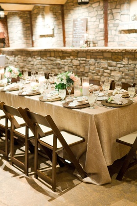 Stone walls surrounded a natural table