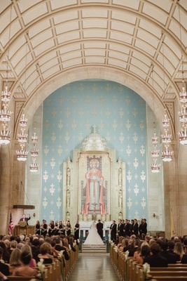 christ the king catholic church dallas, light blue altar