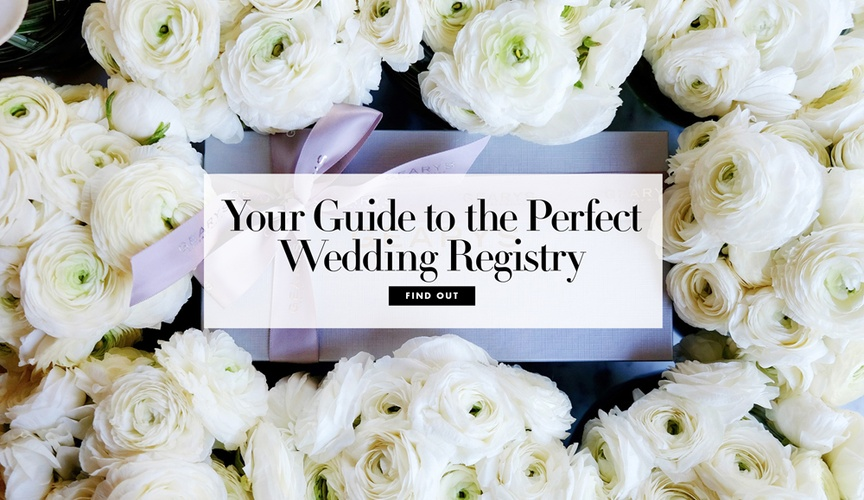 Your guide to the perfect wedding registry