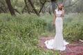Limor Rosen 2017 Rosemary wedding dress boho crop top and beaded lace skirt Birds of Paradise