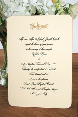Invite Card With Round Edges And Horse Motif