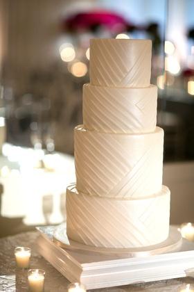 clean simple 4 four tier wedding cake white southern california wedding dessert lines designs