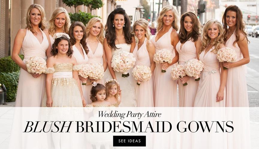 Blush bridesmaid dress ideas from real weddings