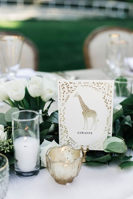 Wedding reception jillian murray and dean geyer tables named after animals gold design