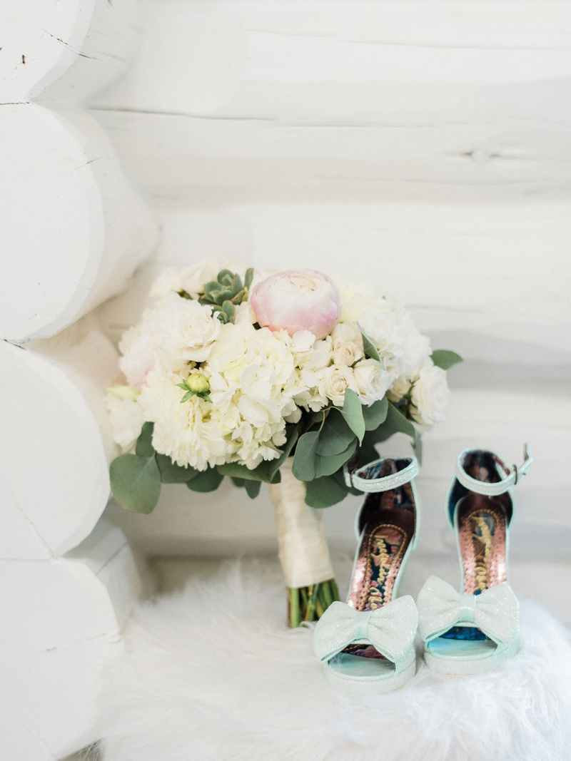 Megan Nicole youtube singer light blue pastel wedding heels shoes ankle strap bow peep toe